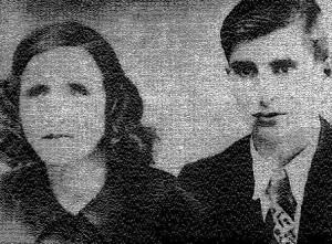 Ванга и съпругът й след венчавката на 10.05.1942 г.